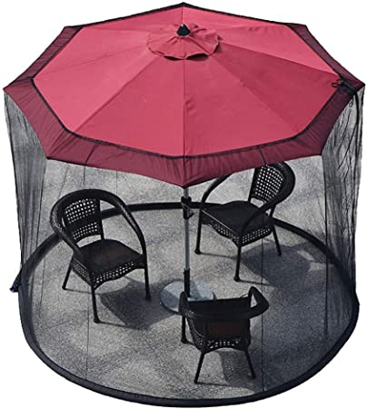 Mosquitera para sombrilla, Sombrilla de jardín exterior Pantalla de mesa Sombrilla de patio Mosquitera Malla de