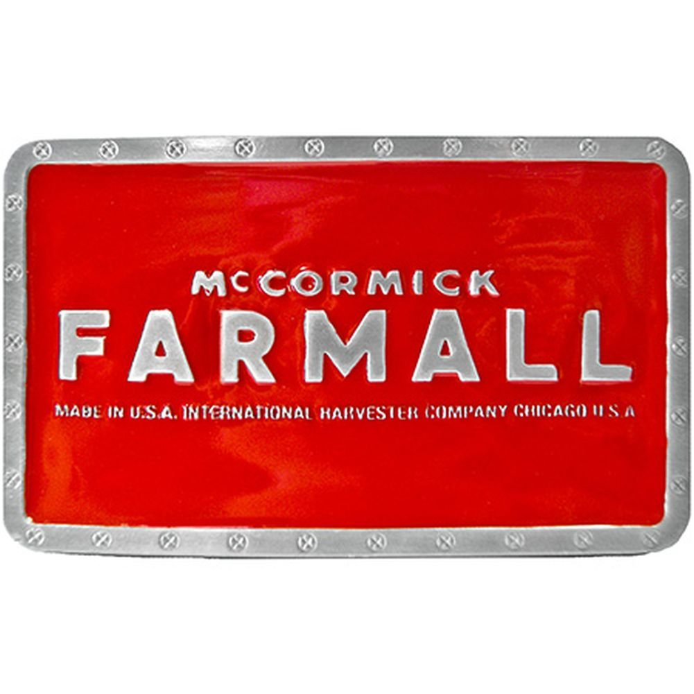Farmall McCormick Rectangle Belt Buckle Red Rogers-Whitley