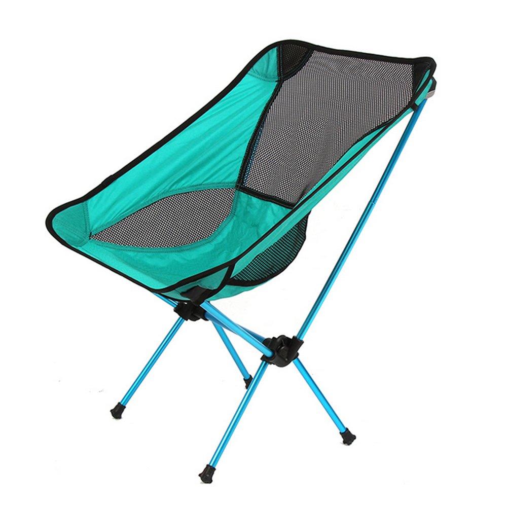 Ezyoutdoorキャンプ折りたたみ椅子コンパクトスツールポータブル折りたたみ椅子with Carry Pouch for旅行キャンプ釣りハイキングスポーツ写真バック  ブルー B016RECRBW