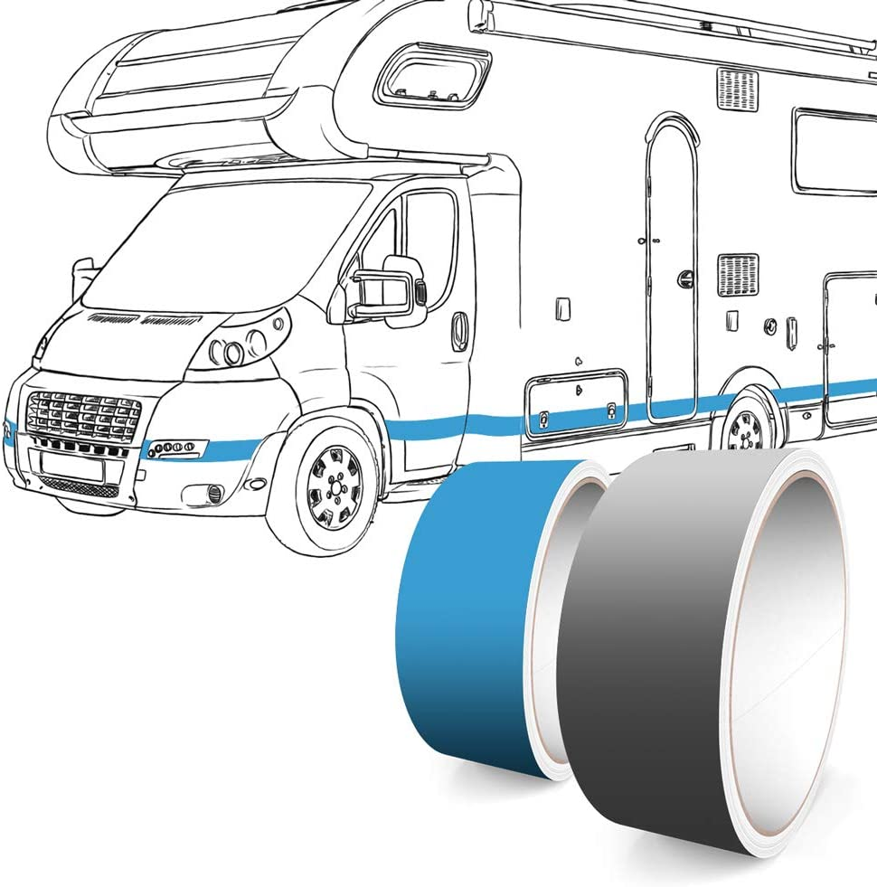 Motoking Bandes D/écoratives Autocollant Film Voiture Bateau Moto Camping-Car Caravane 10 m Longueur 15 mm Largeur Chrome Argent