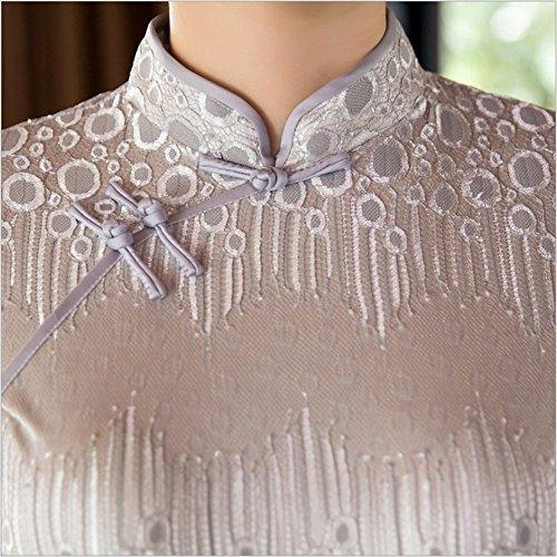 Angcoco Maxi Dress 0431 Sleeve Cap Women's Lace Qipao Cheongsam China SwqSvrI