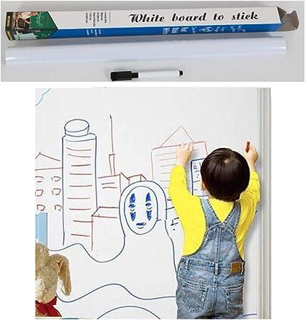Self Adhesive Large White Board Paper Homein Whiteboard Sticker 44.5 x 200CM