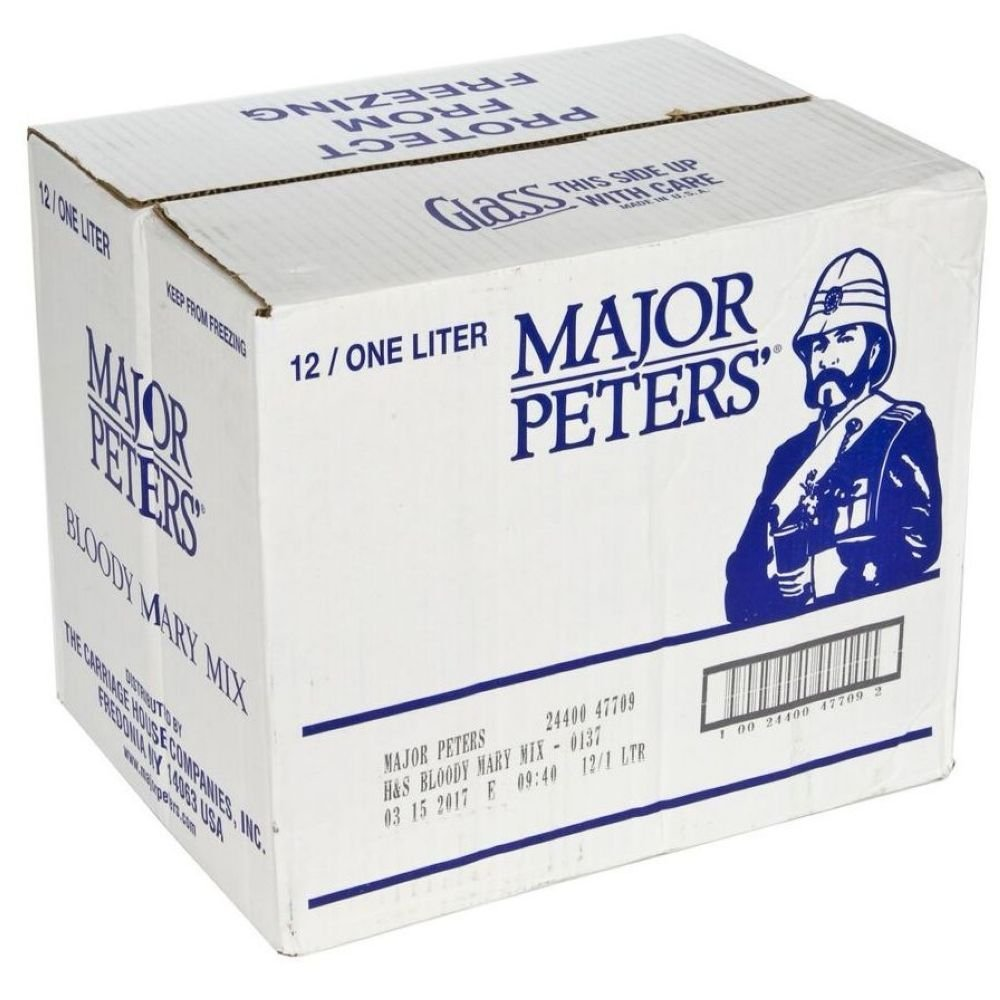 Mixer Major Peters Bloody Mary Hotter, 1 Liter - 12 Case
