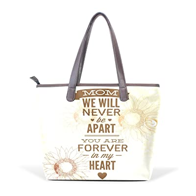 Happy Mothers Day Women's Fashion Large Shoulder Bag Handbag Tote Purse for Lady