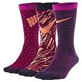 Nike Kids' Graphic Lightweight Crew Socks (3 Pair) (MD (5-7 Big Kid Shoe), Multicolor 1)