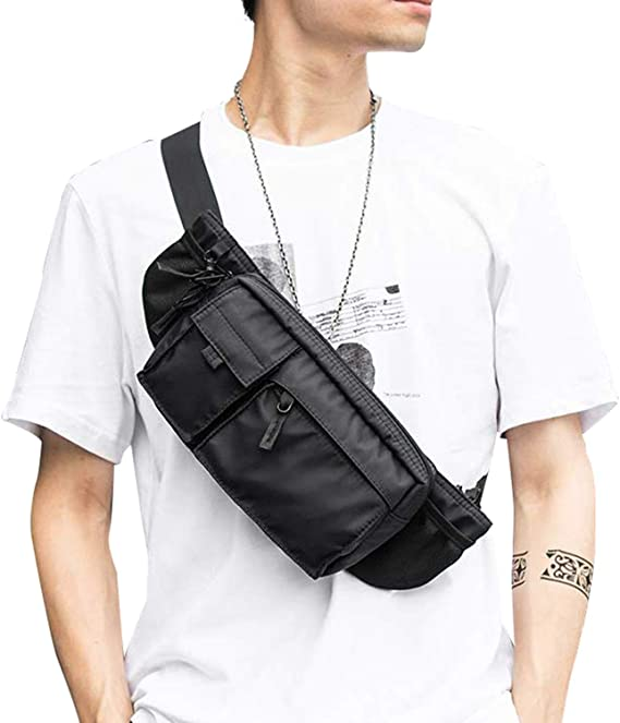 Sporty Waist Pouch Big Fanny Pack Across The Chest Water Resistant Belt Bag Phone Travel Clip Hip Bag Green Rings Bum Bag Across Body