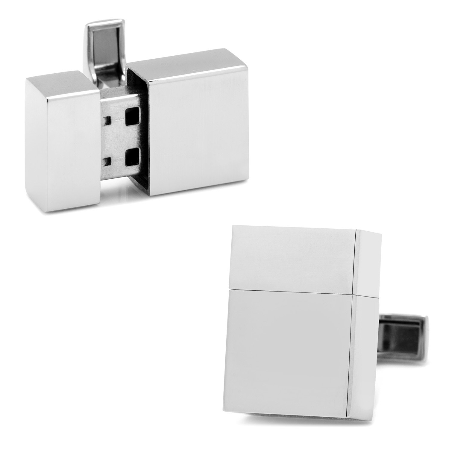Ox and Bull Trading Co. Stainless Steel 16GB USB Flash Drive Cufflinks by Ox and Bull