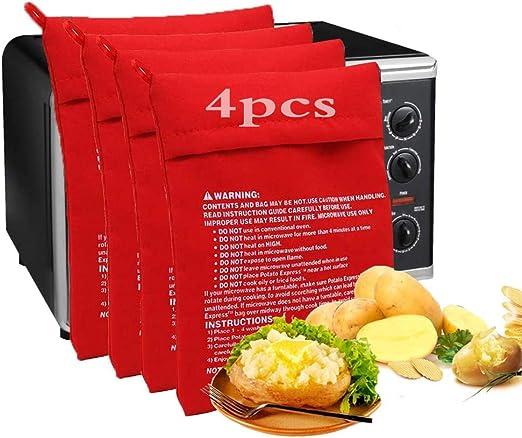 Kris Microwave Bag Cooking Bag Microwave Potato Express Original Potato Expression Potato Bag Potato Bag Microwave Potatoes 4 Pieces Amazon De Large Appliances