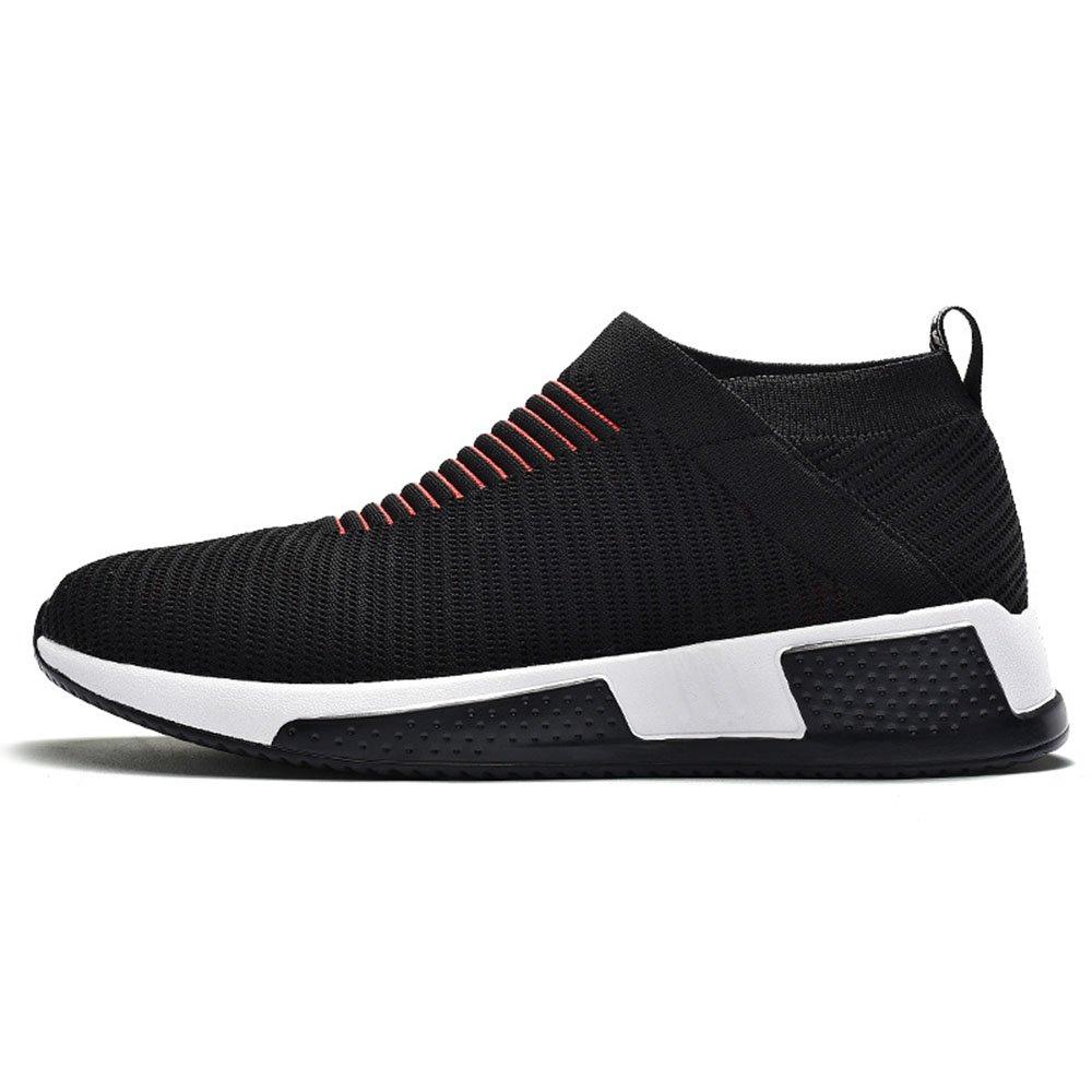FLYMD Running Shoes Zapatillas de Deporte de los Hombres, Zapatos Casuales Ligeros del Acoplamiento de la Malla Respirable (24.5-27.0cm) Sneakers for Men (Color : Negro, tamaño : 39 1/3 EU) 39 1/3 EU Negro