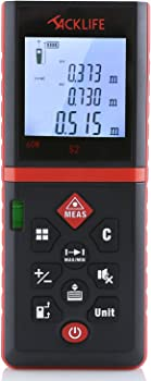 Tacklife 196 Ft with Mute Function Laser Measuring Device