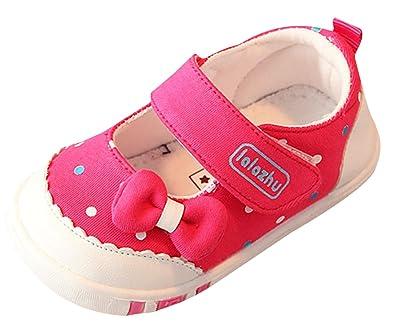 EOZY Chaussure Toile Enfant Bébé Fille Pois Nœud Souple Casual Shoes  Premiers Pas Printemps  Amazon.fr  Chaussures et Sacs e3dfdcb73493