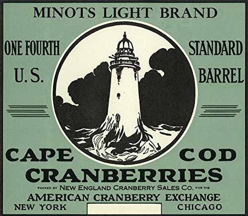 Cape Cod, Massachusetts - Minots Light Brand Cranberry Label (16x24 SIGNED Print Master Giclee Print w/Certificate of Authenticity - Wall Decor Travel Poster)