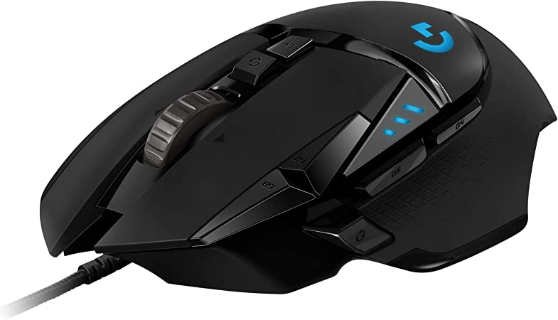 Oferta amazon: Logitech G502 HERO Ratón Gaming con Cable Alto Rendimiento, Sensor HERO 16K, 16 000 DPI, RGB, Peso Personalizable, 11 Botones Programables, Memoria Integrada, PC /Mac - Negro