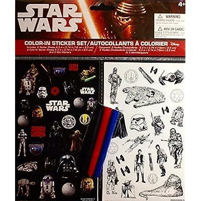 Star Wars Color-in Sticker Set 2015 Lucas Film Ltd. & Disney: Kitchen & Dining