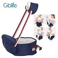 Portabebé Asiento de Cadera Cintura de Taburete Baby Waist Stool Posiciones Asiento Multifunción Mochila de Honda Seguro Hebilla para 0-36 meses Niños