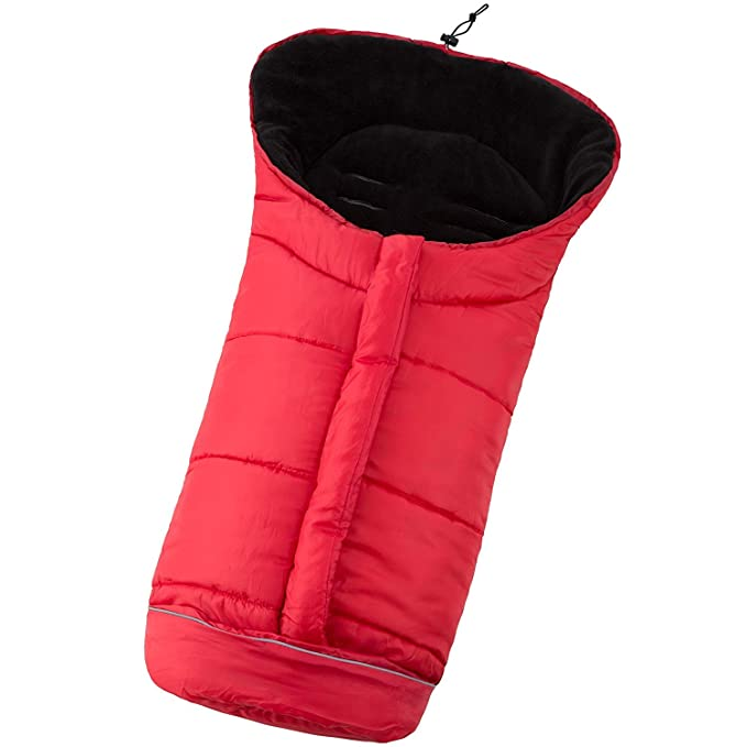 Saco de pie de invierno saco de sillín saco de dormir saco de dormir saco de invierno con cremallera para cochecito, cochecito y portabebés | Lana de coral ...