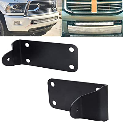 Front Lower Hidden Bumper Mounting Brackets For 40 inch Curved LED Light Bar Fits 2010-2020 Dodge Ram 2500 3500 Models: Automotive