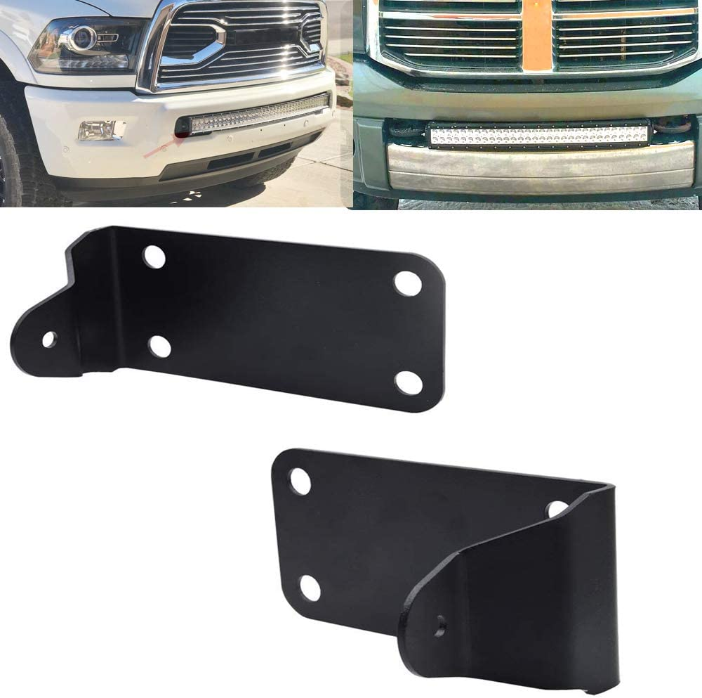 XJMOTO Front Lower Hidden Bumper Mounting Brackets Compatible with 40 inch Curved LED Light Bar Compatible with 2010-2019 Dodge Ram 2500 3500 Models