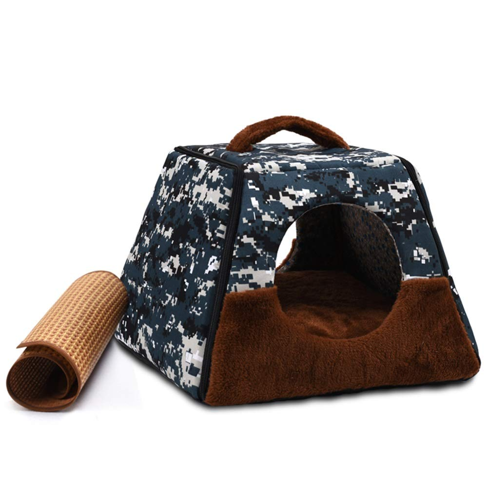 35;3 SJHD Kennells  ful Color Wasable Cat Dog House Portable Dualose with Cool Mat or Blanket and Handle for Small and Medium Cats and Dogs (colore \6, Size: L)