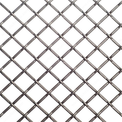 Pewter Wire Mesh - Decorative Wire Mesh - 812, Finish Pewter, Width - Overall Dimensions 48 in, Projection - Overall Dimensions 72 in
