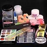 Acrylic Liquid Powder Half French Nail Art Tips Pump File Clipper Tools Kit by WindMax