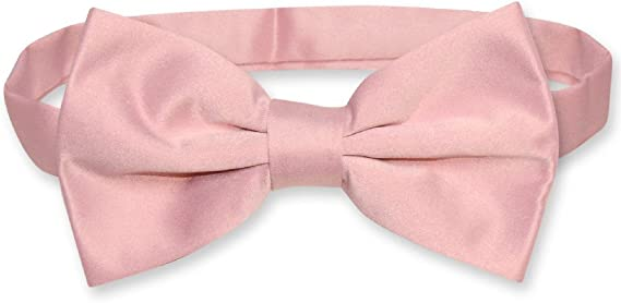 Vesuvio Napoli BOWTIE Solid WHITE Color Mens Bow Tie for Tuxedo or Suit