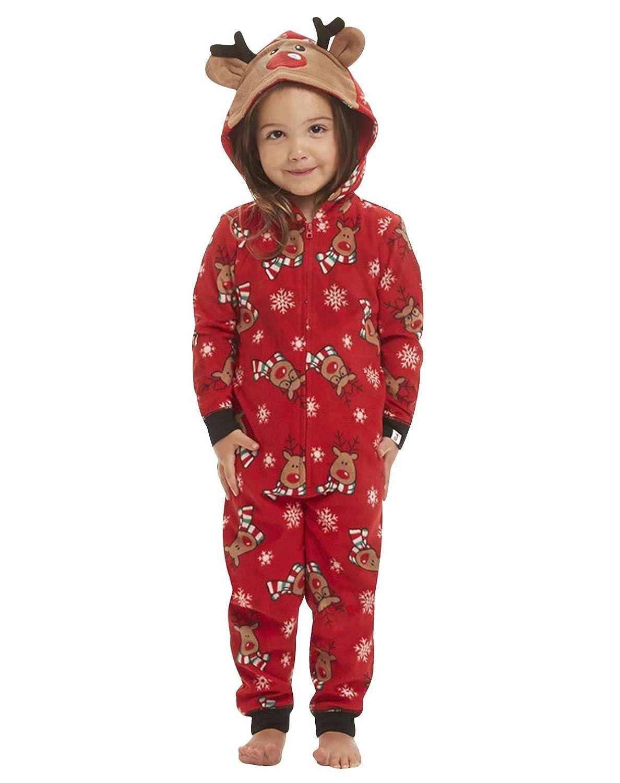 Pigiami Interi Famiglia Natale Natalizi Adulti Pigiama Intero Natalizio Tuta Donna Maniche Lunghe Bambini Bambina Bambino Uomo Neonato Pigiamas Ragazza Ragazzo Invernale Costume di Natale Sleepwear