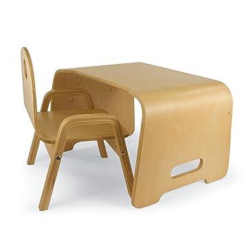 Amazon.com: Kids Vapor Bent madera computadora y silla ...