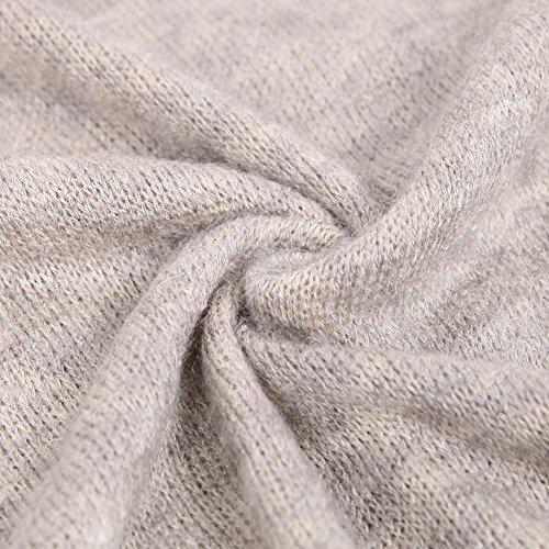 Les Femmes Boodtag À Col Roulé Chemisiers En Tricot Pull Gris Hauts Pullovers Manches Longues