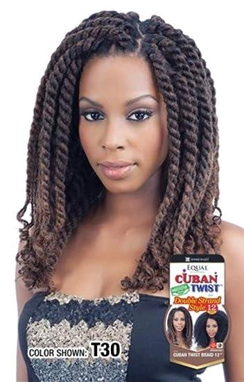 Amazon Com Freetress Equal Synthetic Hair Braids Havana Twist Style Cuban Twist 12 T530 Beauty