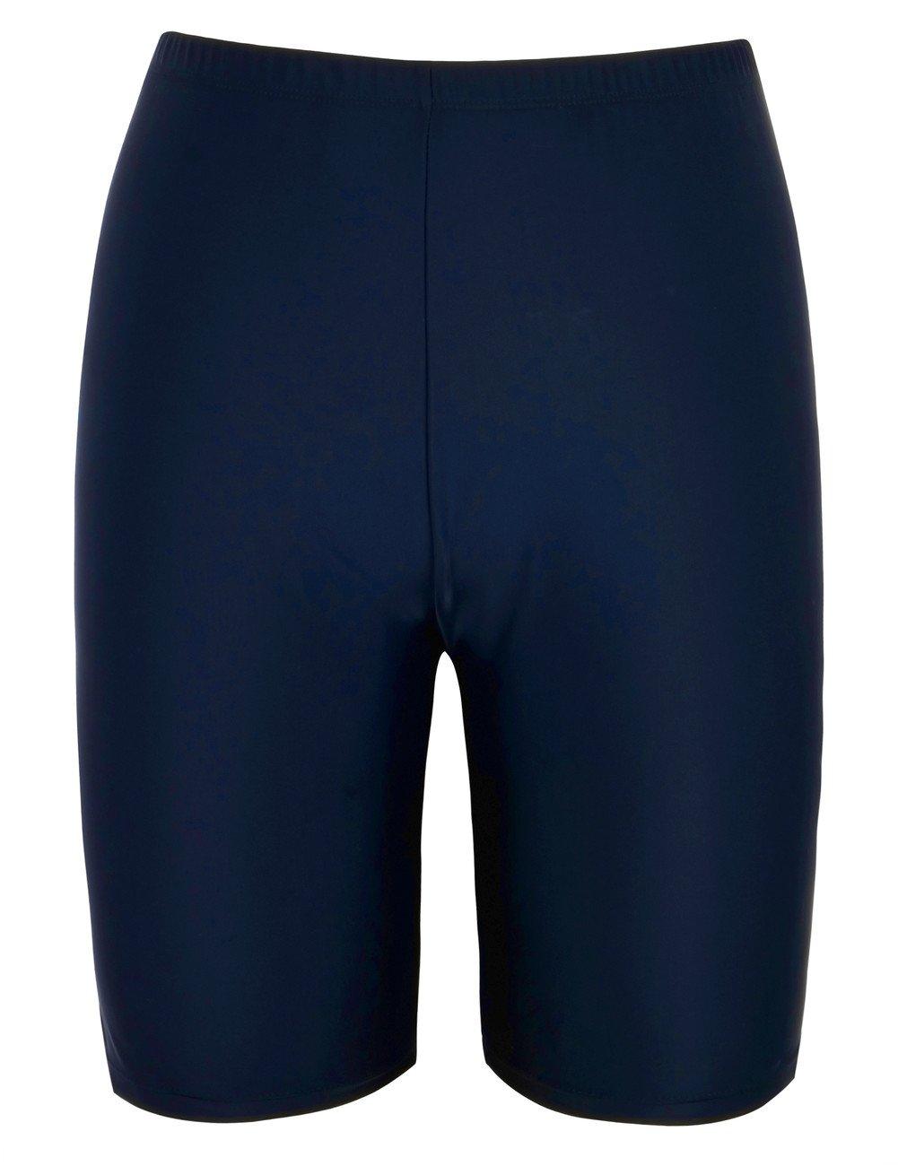 Firpearl Women's UPF50+ Sport Board Shorts Swimsuit Bottom Capris US8 Navy