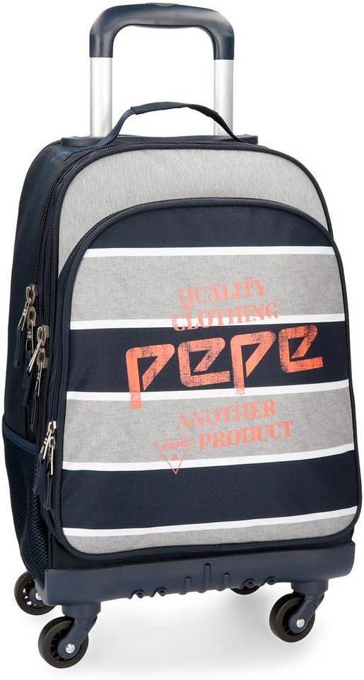 Mochila con ruedas Pepe Jeans Pierre 4R