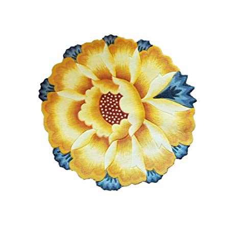 Amazon luk oil sunflower round rug mats flowers round rugs luk oil sunflower round rug mats flowers round rugs yellow flowers round the bedroom carpet 3543 mightylinksfo