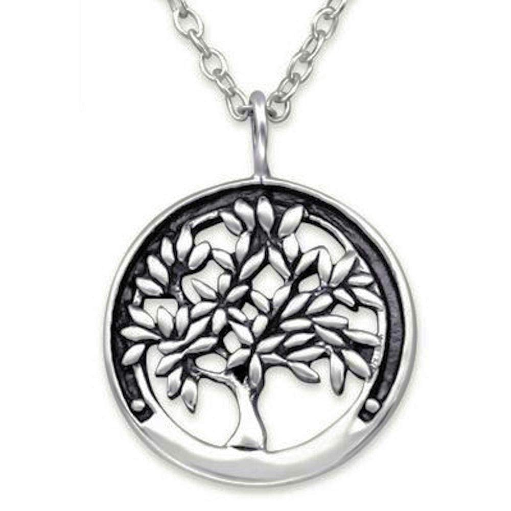 So Chic Jewels 925 Sterling Silver Tree Of Life Necklace
