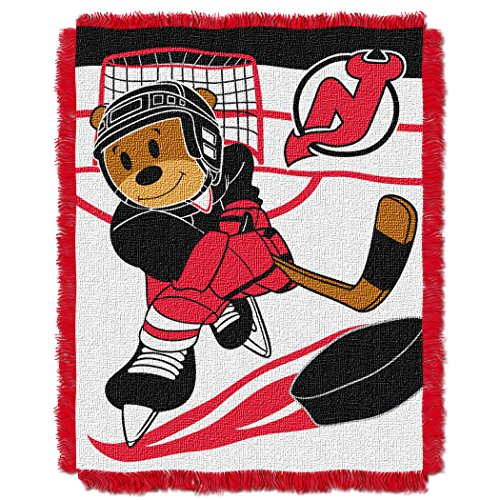 (The Northwest Company Officially Licensed NHL New Jersey Devils Score Woven Jacquard Baby Throw Blanket, 36