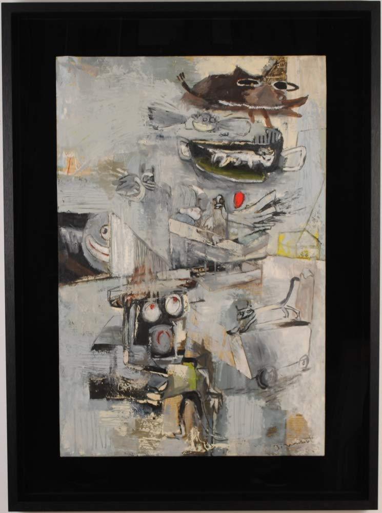 現代アート 絵画 抽象画 油絵 モダンアート ジャックヴィンセント 「僕らの時代」 額付き   B07P7ZM74N