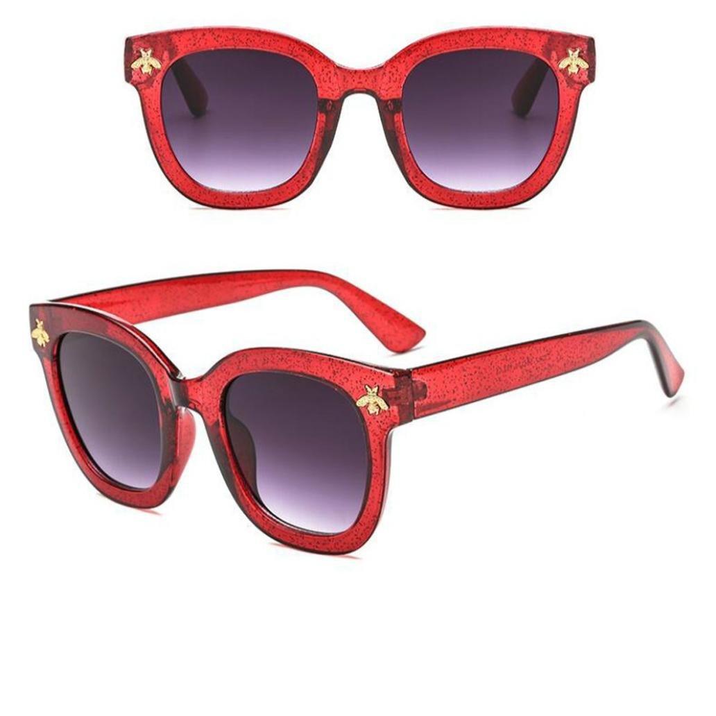 Qmber Joker-Sonnenbrille, Frauen-Retro- Bienen-Sonnenbrille-Weinlese ...