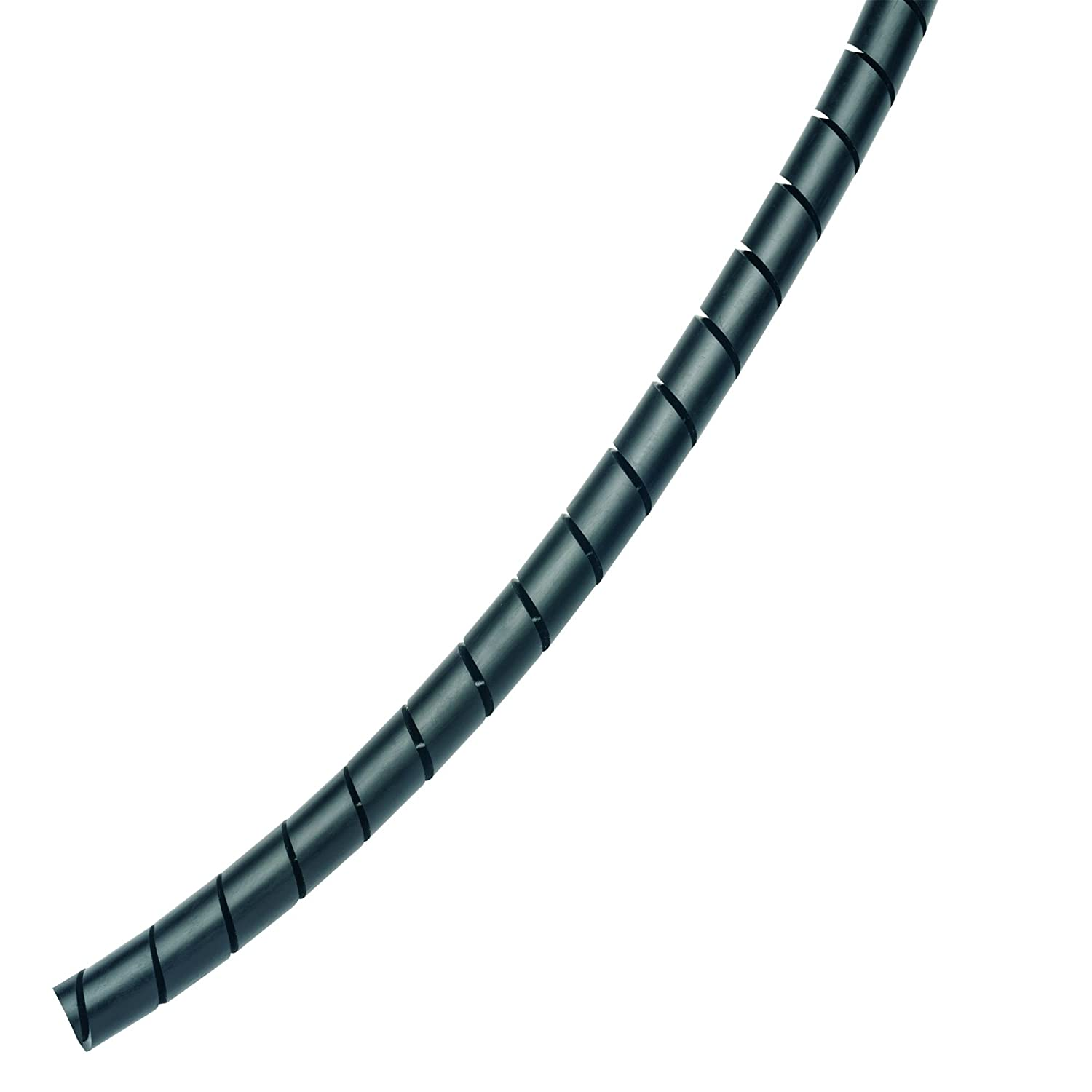 Image of Panduit T50F-C0 Weather Resistant Polyethylene Spiral Wrap, 100-Feet, Black Circular Connectors
