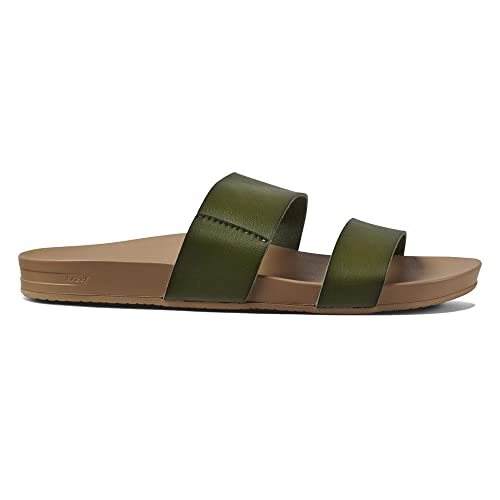 4fbc54d5a Reef Womens Sandals Vista | Vegan Leather Slides for Women with Cushion  Bounce Footbed: Reef: Amazon.ca: Shoes & Handbags