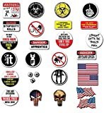 1 SET XXL UNION BEST OF (28pcs) Hard Hat, Tool Box Stickers | 100% PVC ! Funny decals for Construction, Electrician, Union, OSHA, Oilfield, Military, Fire Crew, Mechanics | Display your American Flag!