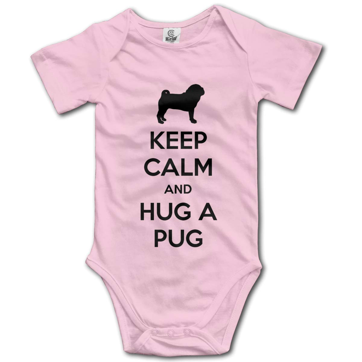 Baby Climbing Clothes Set Hug A Pug Bodysuits Romper Short Sleeved Light Onesies