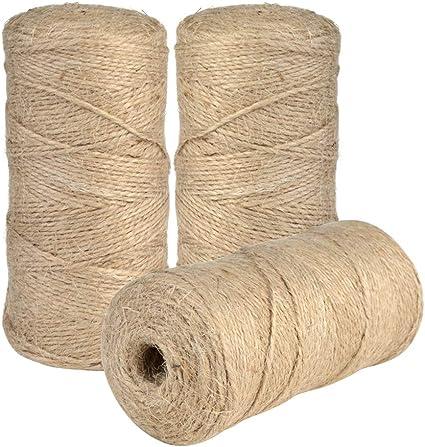 Jerbro 3 Rollos de Cordel de Yute Natural para Manualidades ...