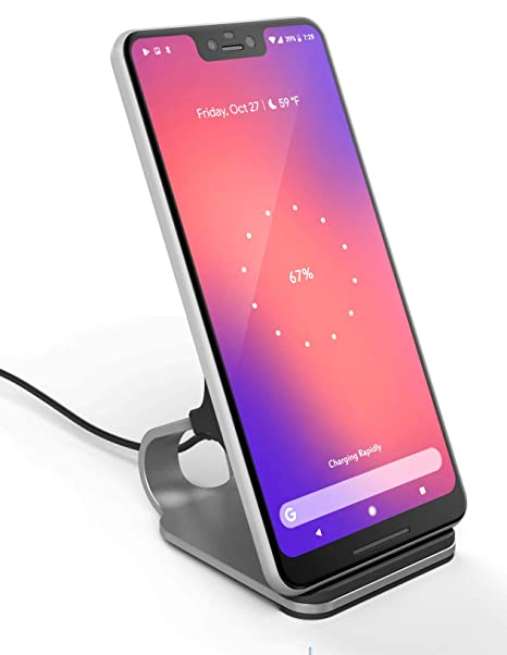Encased LG V40 ThinQ Wireless Charger Stand (2018) Case Friendly Aluminum  Desktop Charging Qi Pad w/Cable