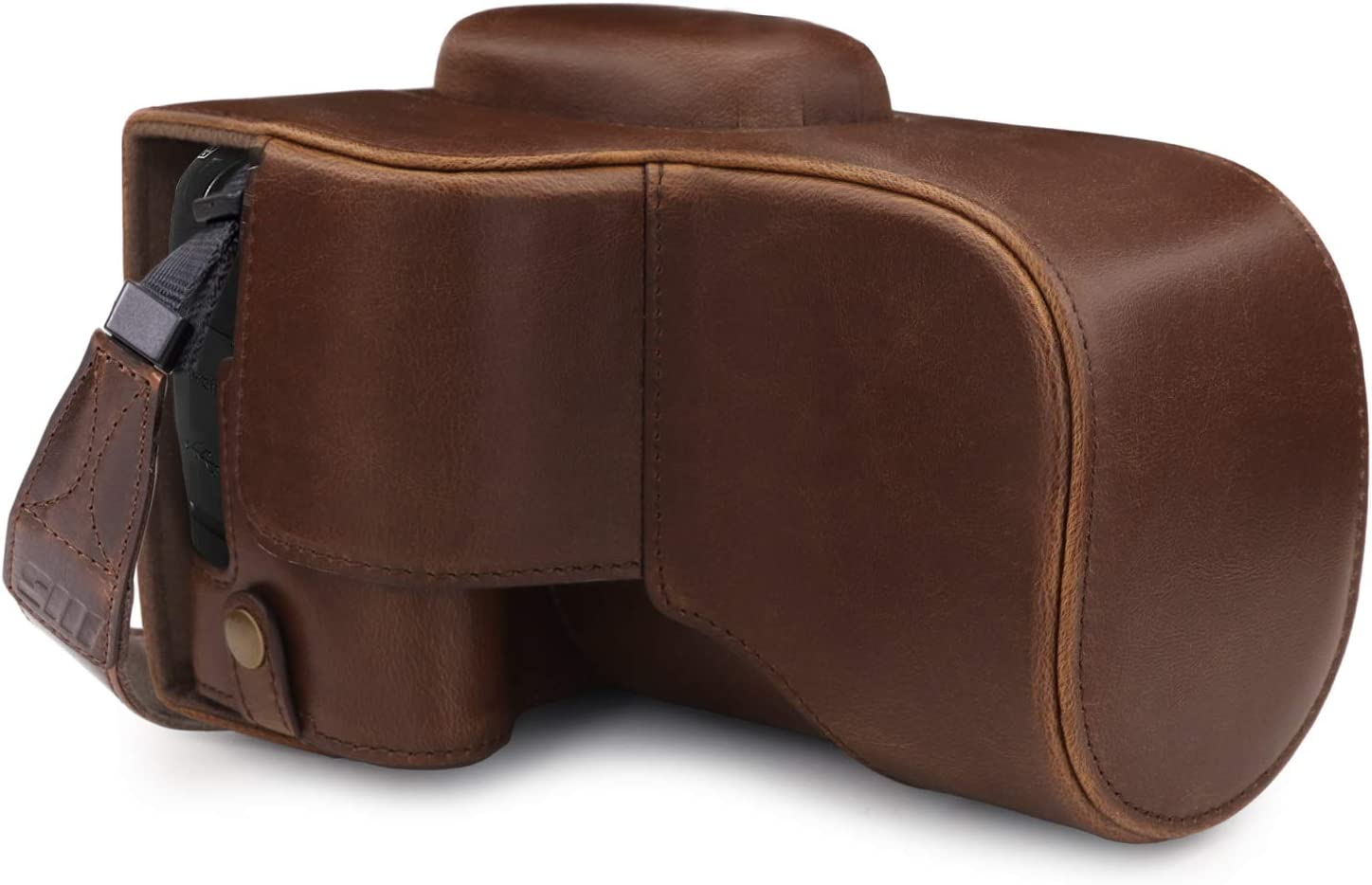 MegaGear Ever Ready Leather Camera Case compatible with Canon EOS 4000D