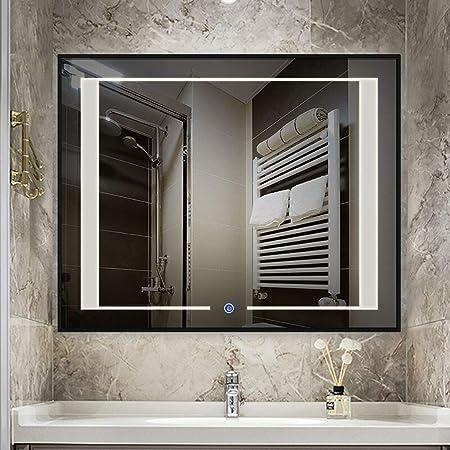 Miroir Lumineux pour Salle De Bain avec Support Mural pour ...
