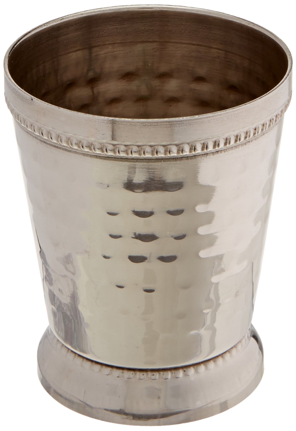 Elegance 4 oz Hammered Mint Julep Cup, Small, Silver 72476