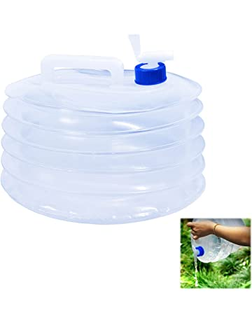 1937204e17 Collapsible Water Container, TOODA 10L / 15L Water Carrier Camping  Collapsible with Tap, PE