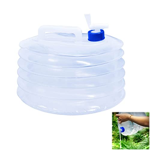 TOODA Collapsible Water Container, 10L/15L Water Carrier Camping Collapsible with Tap, PE Food Grade, BPA-Free Non-toxic, Water Storage for Camping Hiking Hunting Outdoor Car Equipment Buckets