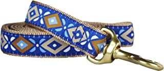 """product image for Up Country Dog Lead - Aztec Blue - 1"""" x 6'"""