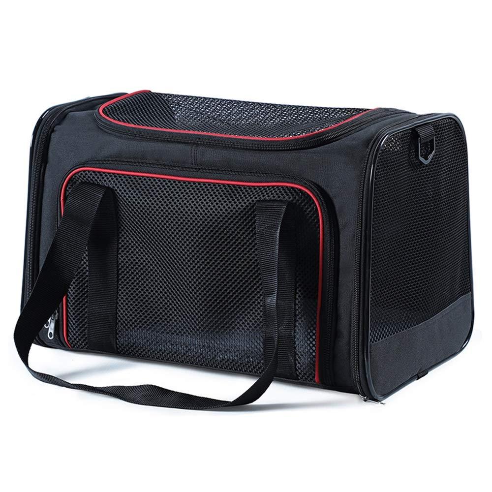 D L D L Pet Backpack Foldable Outgoing Carrying Case Shoulder Bags Handbag Dog Bags Cat Cage (color   D, Size   L)